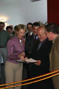 Inauguration officielle (4 juin 2005) en présence de Madame la Ministre C. Fonck.